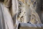 Der junge Jesus bei der Zimmermannsarbeit Geburtsfassade Sagrada Familia (c) Foto von Susanne Haun
