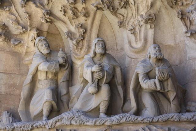 Die heiligen drei Könige - Geburtsfassade Sagrada Familia (c) Foto von Susanne Haun