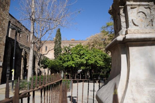 Blick in den Hof der Biblioteca de Catalunya (c) Foto von M.Fanke