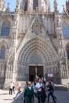 Portal der Kathedrale im Gotischen Viertel Barcelona (c) Foto von Susanne Haun.