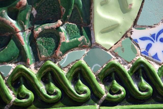 Ich mag das Grün und das Relief in den Fliesen (c) Foto von Susanne Haun