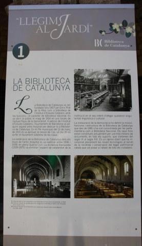 Biblioteca de Catalunya - Beschreibung in spanisch (c) Foto von Susanne Haun