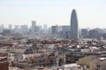 Der Torre Agbar von der Sagrada aus gesehen (c) Foto von Susanne Haun