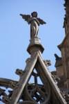 Statt Kreuzblume ein Engel auf der Kathedrale im Gotischen Viertel Barcelona (c) Foto von Susanne Haun.