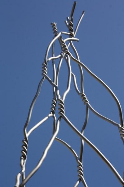 Skulptur auf den Straßen Barcelonas (c) Foto von Susanne Haun