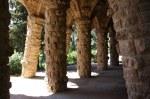 Säulengänge in Gaudis Park Güell (c) Foto von Susanne Haun