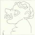 Auf dem Weg zur Bibliothek Barcelona (c) Zeichnung von Susanne