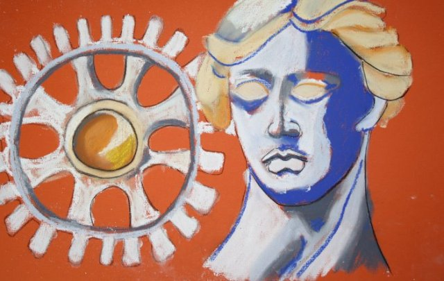 Die Industrie - 30 x 40 cm (c) Pastellzeichnung von Susanne Haun