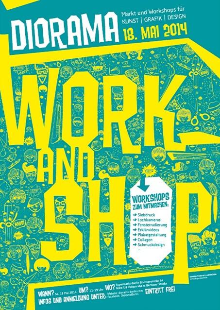 Diorama Flyer Workshops  Sonntag, den 18. Mai 2014