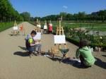 Impressionen beim Malen mit Migrationskinder aus Charlottenburg (c) Foto Susanne Haun