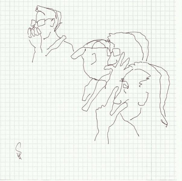 Vorlesung am 15.5.2014 (c) Zeichnung von Susanne Haun