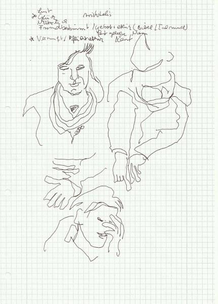 Ethik x 5 (c) Zeichnung von Susanne Haun