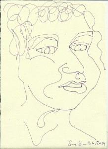 Ich Version 3  (c) Zeichnung von Susanne Haun