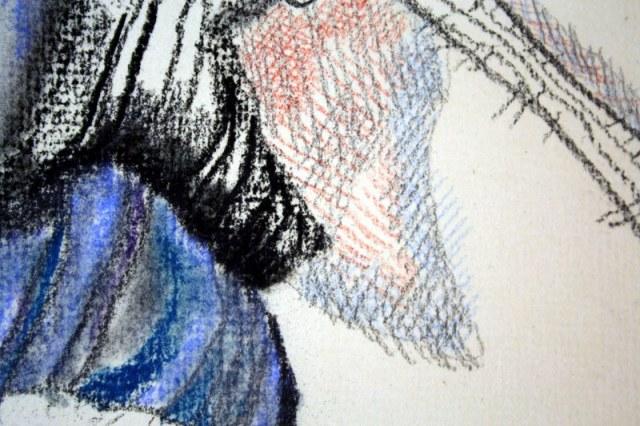 Auschnitt - Verblühte Anemone (c) Zeichnung von Susanne Haun