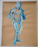 Akt in Blau (c) Zeichnung von Susanne Haun