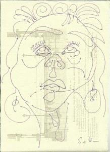 Ich und die Kunstgeschichte Inspiriert(c) Zeichnung von Susanne Haun