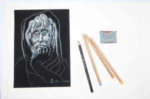 Allegorie der Philosophie mit Stiften (c) Zeichnung von Susanne Haun