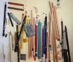 Ein Teil meines Arbeitstisches ist belegt (c) Foto von Susanne Haun