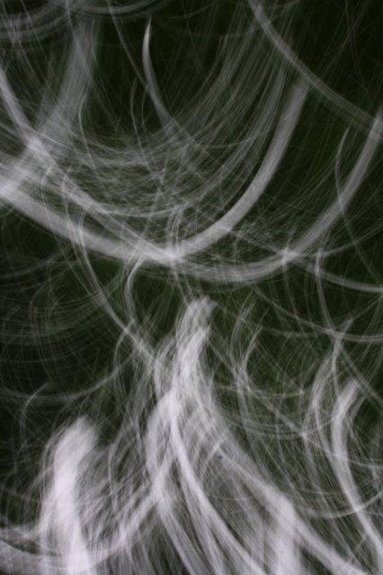 Geschwungenes Grün (c) Zeichnung mit Licht von Susanne Haun