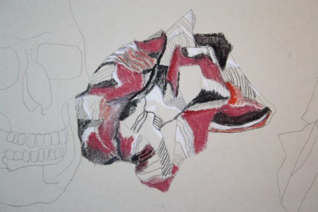 Ausschnitt - Knautschzone (c) Zeichnung von Susanne Haun