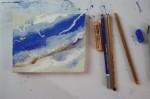 Ich zeichne auch gerne mit Stiften (c) Foto von Susanne Haun