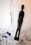 Das Vergehen der Zeit - Ausschnitt Figur - Entstehung (c) Susanne Haun