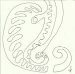 Ornament St. Petri (c) Zeichnung von Susanne Haun