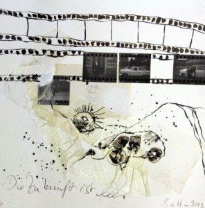 Blatt 11 Zustand von 2012 - Die Zukunft ist leer 25 x 25 cm (c) Collage von Susanne Haun