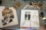 Die Arbeit zu meiner Collage Zauberbuch beginnt (c) Foto von Susanne Haun