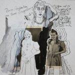 Blatt 34 - Zum Andenken an Eure Ingeborg - 25 x 25 cm - Collage von Susanne Haun