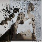 Blatt 4 Die Zeit – 25 x 25 cm (c) Collage von Susanne Haun