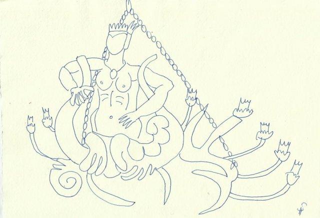 Lüsterweibchen (c) Zeichnung von Susanne Haun