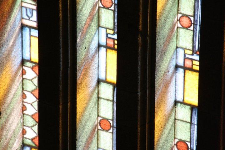 Fenster aus dem Inneren des Vökerschlachtdenkmal (c) Foto von Susanne Haun