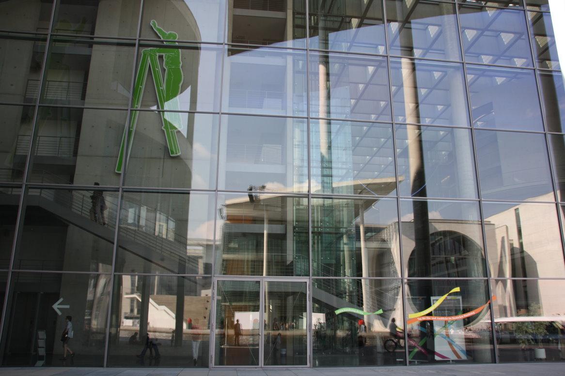 Bezaubernd Fensterfront Referenz Von Spiegelung In Der Des Paul-löbe-es (c) Foto