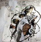 Blatt 50 - Selbst - 25 x 25 cm (c) Collage von Susanne Haun