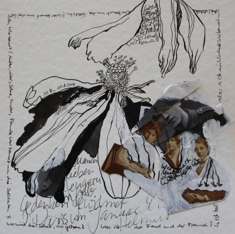 Blatt 44 - Wer sind die Söhne, die gehen - 25 x 25 cm (c) Collage von Susanne Haun