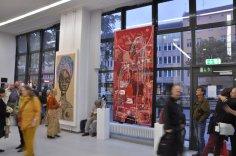 Impressionen von der Ausstellungseröffnung Kunst Pur 2014 in der Galerie Wedding (c) Foto von M.Fanke