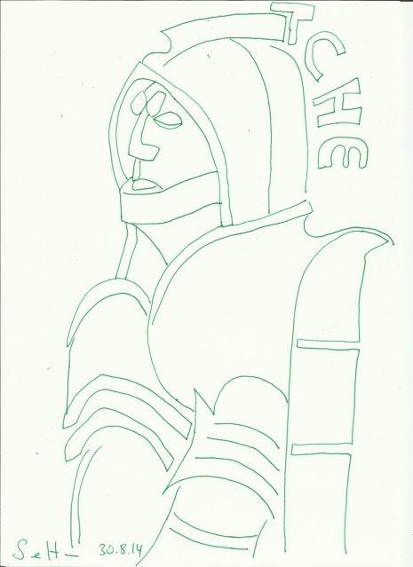 Völkerschlachtdenkmal (c) Zeichnung von Susanne Haun