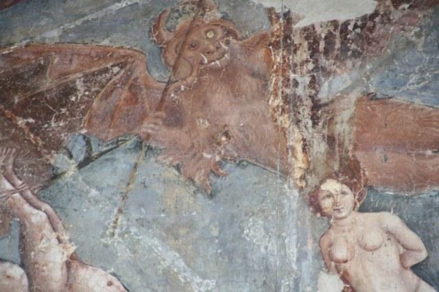 Detail aus Buffalmaccos gemalter -Triumph des Todes- (c) Foto von Susanne Haun