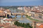 Ponte Vecchio, Ausblick vom Piazzale Michelangelo, Florenz (c) Foto von M.Fanke