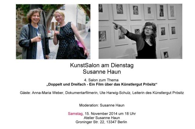 Salon Einladung Gast Ute und Anna zum versenden