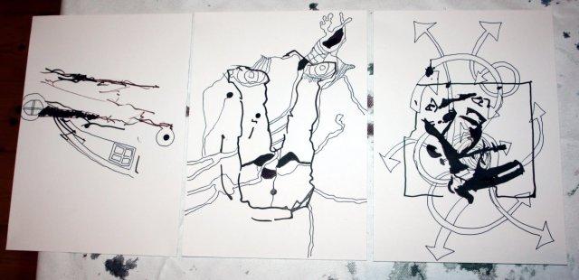 sammenzu (3teilig) - Version 1 (c) Zeichnung von J.Küster und S.Haun