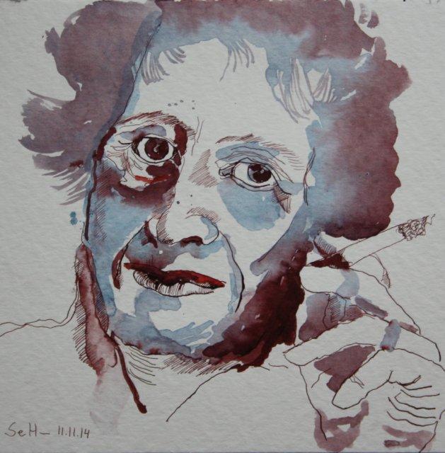Hannah Arendt (c) Zeichnung von Susanne Haun