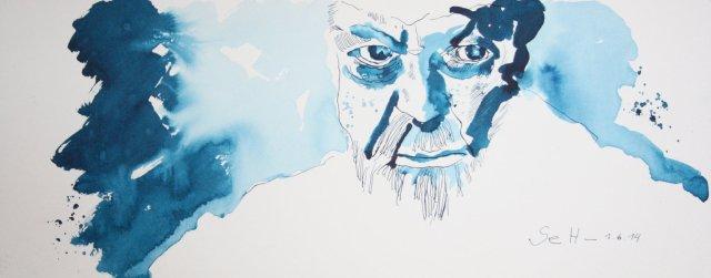 Mein Vorstellung von Siegmund Freud Version 2(c) Zeichnung von Susanne Haun