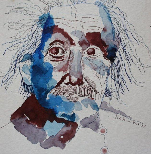 Meine Vorstellung von Einstein (c) Zeichnung von Susanne Haun