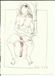 Akt Engel (c) Zeichnung von Susanne Haun