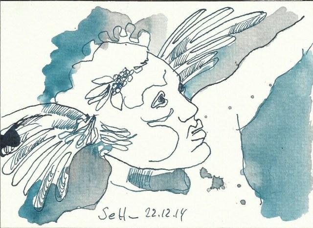 Engel Vers 1 (c) Zeichnung von Susanne Haun