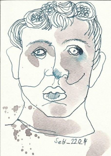 Engel Vers 2 (c) Zeichnung von Susanne Haun