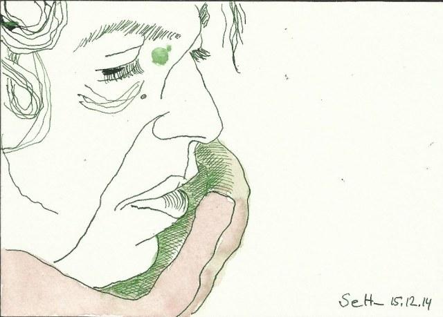 Ich - 12 x 17 cm - Tusche auf Burgund Bütten - Vers. 2 (c) Zeichnung von Susanne Haun .jpg