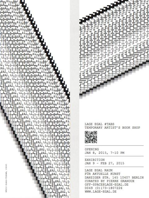 Invitation card as a bookmark. Design: Régis Glaas-Togawa, 23h45